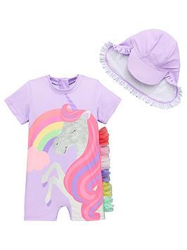 mini-v-by-very-girls-unicorn-magic-frill-sun-safe-amp-hat-lilac