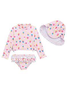 mini-v-by-very-girls-ice-cream-3-piece-sunsafe-swimwear-set-multi