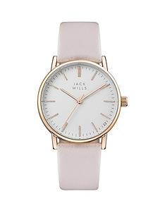 jack-wills-jack-wills-white-and-rose-gold-detaildial-pink-leather-strap-ladies-watch