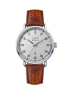 jack-wills-jack-wills-silver-and-blue-detail-brown-leather-strap-mens-watch