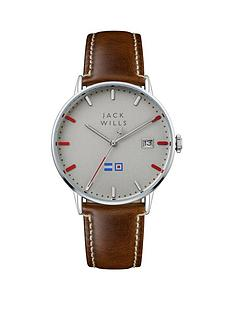 jack-wills-jack-wills-silver-and-red-detail-date-dial-brown-leather-strap-mens-watch