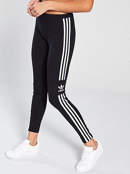 adidas Originals Adidas Originals 3 Stripe Trefoil Tights - Black Picture