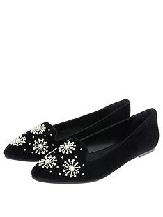 fed1c0dad6fcd Accessorize Pearl Slipper Shoe - Black