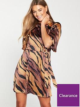 v-by-very-tiger-d-ring-poly-satin-tea-dress
