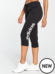 adidas-linear-34-pant-black
