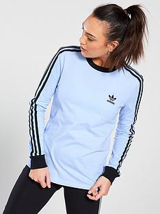 adidas-originals-3-stripe-long-sleeve-tee-lilacnbsp