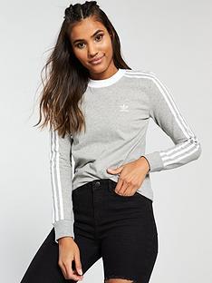 adidas-originals-3-stripe-long-sleeve-tee-light-grey-heathernbsp