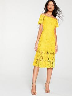 v-by-very-guipure-lace-pencil-dressnbsp--yellow