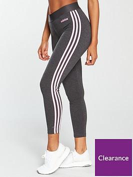 adidas-essentials-3-stripe-tight-dark-grey-heathernbsp