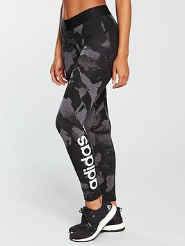 adidas-linear-print-tight-blackgreynbsp
