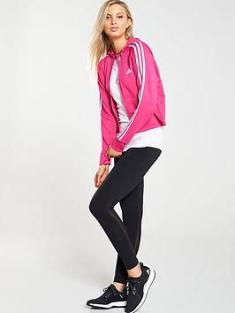 0e9f5bc8ed3 adidas Hoodie & Tight Tracksuit - Black/Pink | littlewoods.com
