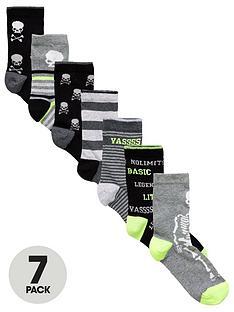 v-by-very-7-pack-skull-slogan-ankle-socks