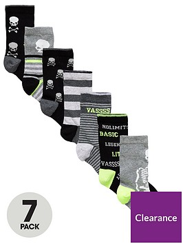 v-by-very-7-pack-skull-slogan-ankle-socks