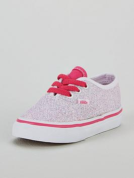 5139a58fcd79 Vans Glitter Authentic Infant Trainer - White Pink