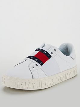 283a954d9 Tommy Hilfiger Slip On Logo Cool Trainers - White