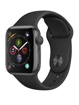 Apple Watch Series 4 (Gps), 40Mm Space Grey Aluminium Case With Black Sport Band cheapest retail price
