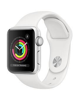 Buy Brand New Apple Watch Series 3 (2018 Gps), 38Mm Silver Aluminium Case With White Sport Band