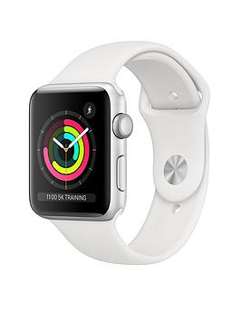 Apple Watch Series 3 (2018 Gps), 42Mm Silver Aluminium Case With White Sport Band cheapest retail price