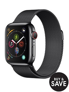 apple-watch-seriesnbsp4-gpsnbspnbspcellular-40mm-space-black-stainless-steel-case-with-space-black-milanese-loop