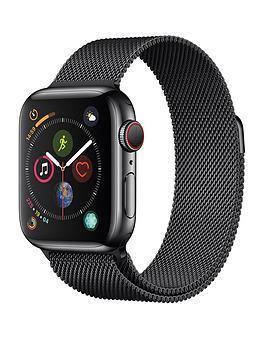 apple-watch-seriesnbsp4-gpsnbspnbspcellular-40mm-space-black-stainless-steel-case-with-space-black-milanese-loop