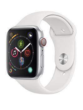 Apple Watch Series 4 (Gps + Cellular), 44Mm Silver Aluminium Case With White Sport Band cheapest retail price