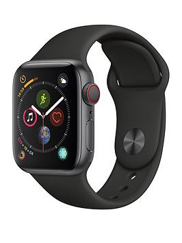 Apple Watch Series 4 (Gps + Cellular), 40Mm Space Grey Aluminium Case With Black Sport Band cheapest retail price