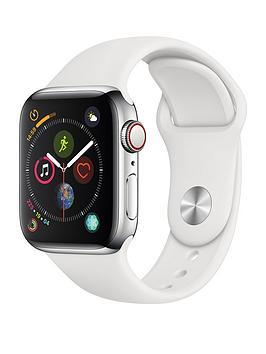 apple-watch-series-4-gps-cellular-40mm-stainless-steel-case-with-white-sport-band
