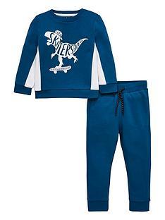 mini-v-by-very-boys-2-piecenbspskatersaurus-sweatshirt-and-jogger-set-blue