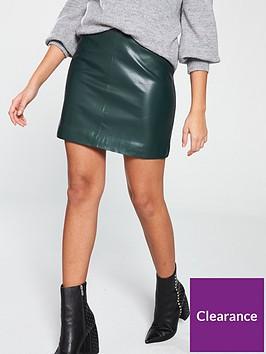 v-by-very-pu-a-line-skirt-green