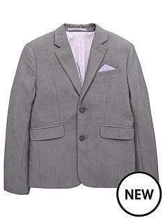 40b0d0029ac13d V by Very Boys Occasionwear Smart Suit Blazer Jacket - Grey