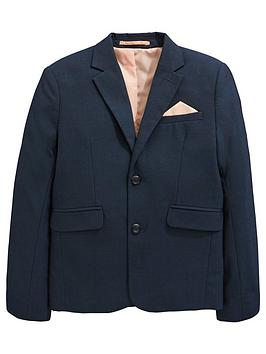 V by Very V By Very Pindot Occasionwear Smart Suit Jacket - Navy Picture