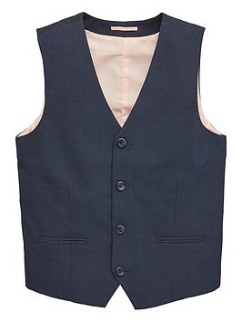V by Very V By Very Boys Occasionwear Smart Suit Waistcoat - Navy Picture