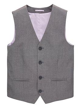 V by Very V By Very Boys Occasionwear Smart Suit Waistcoat - Grey Picture
