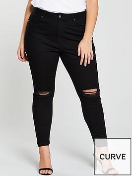 v-by-very-curve-ripped-knee-skinny-jeans-black