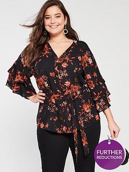 v-by-very-curve-v-neck-tie-waist-blouse-floral-print