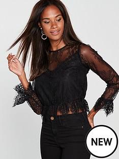 miss-selfridge-lace-victoriana-blouse-black