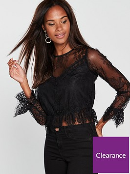 miss-selfridge-lace-victoriana-blouse-black