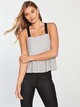 v-by-very-metallic-strappy-top-silver