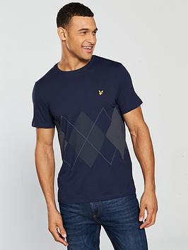 lyle-scott-argyle-t-shirt-navy