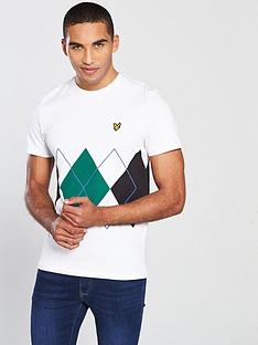 lyle-scott-argyle-t-shirt-white