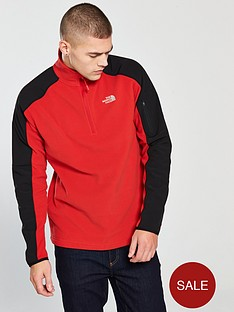 the-north-face-glacier-delta-14-zip-fleece-redblack