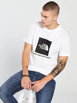 the-north-face-short-sleeve-raglan-redbox-t-shirt-white