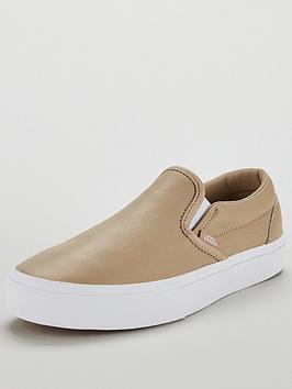 f18a8c7e59c892 Vans UA Classic Leather Slip-On - Beige White