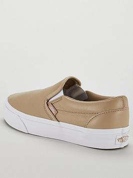 347eba8a51dffd ... Vans UA Classic Leather Slip-On - Beige White. View larger