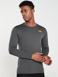 the-north-face-long-sleeve-easy-t-shirt-grey
