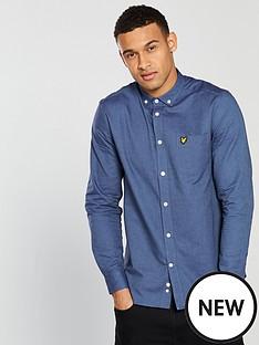 lyle-scott-oxford-shirt-cornflower-blue