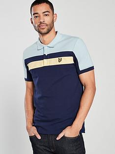 lyle-scott-colour-block-polo-shirt
