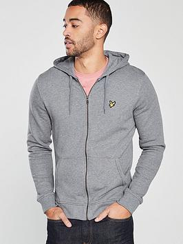 lyle-scott-zip-through-hoodienbsp--mid-grey-marl