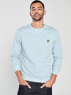 lyle-scott-crew-neck-sweatshirt-blue-shore