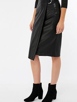 monsoon-wrap-faux-leather-skirt-black